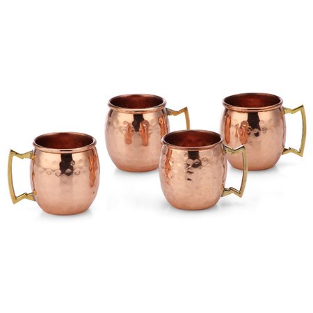 Charlton Home Averill Hammered 2 oz. Copper Moscow Mule Mug (Set of 4)
