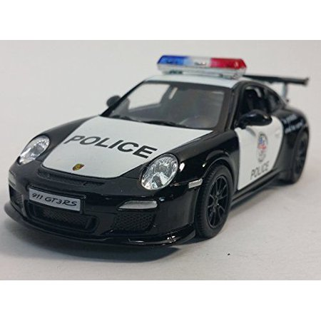 "5"" Kinsmart Porsche 911 GT3 RS Police Car Diecast Model Toy 1:36 cop"