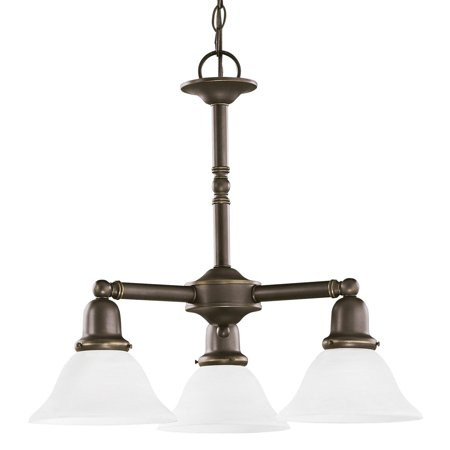 782 Sussex Single Light - Sea Gull Lighting Sussex 31060-782 3-Light Chandelier - 22 diam. in. - Heirloom Bronze