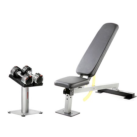 Weider club powerswitch 100 dumbbell bench and adjustable weight set Bench and weight set
