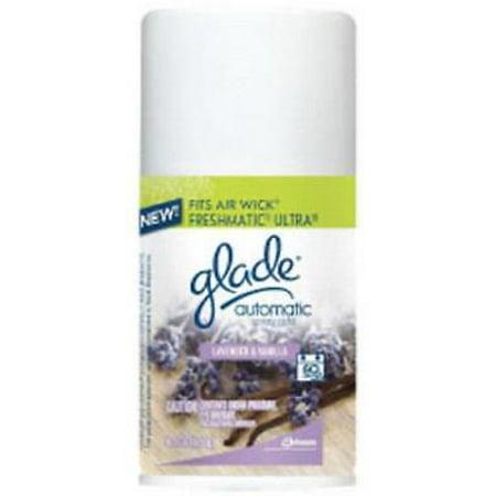 NEW 2PK 6.2 OZ Glade Automatic Spray Refill Lavender & Vanilla Glade Now