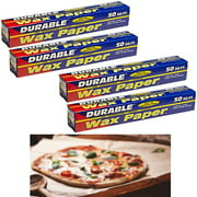 """4 Rolls Wax Paper Non-Stick Baking Pan Liner Oven Cooking Pizza Cake 12"""" X 50Ft"""