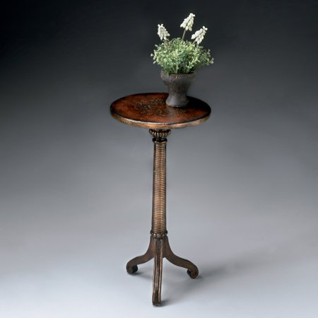 Butler Florence Brown And Gold Pedestal Table ()