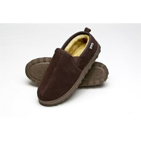 89f84c025c1fd Tamarac by Slippers International Mens Cody Shearling Slipper ROOTBEER / 8