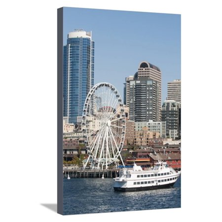 Argosy Harbor Cruise boat returns to Pier 55, Seattle, Washington, USA Stretched Canvas Print Wall Art By Trish Drury](Halloween Boat Cruise Seattle)
