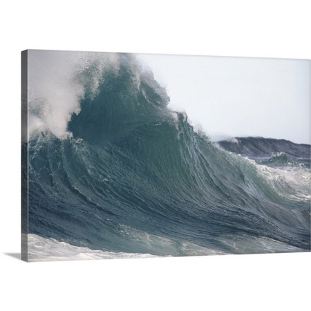 Great Big Canvas Vince Cavataio Premium Thick Wrap Canvas Entitled Hawaii  Big Powerful Wave Break