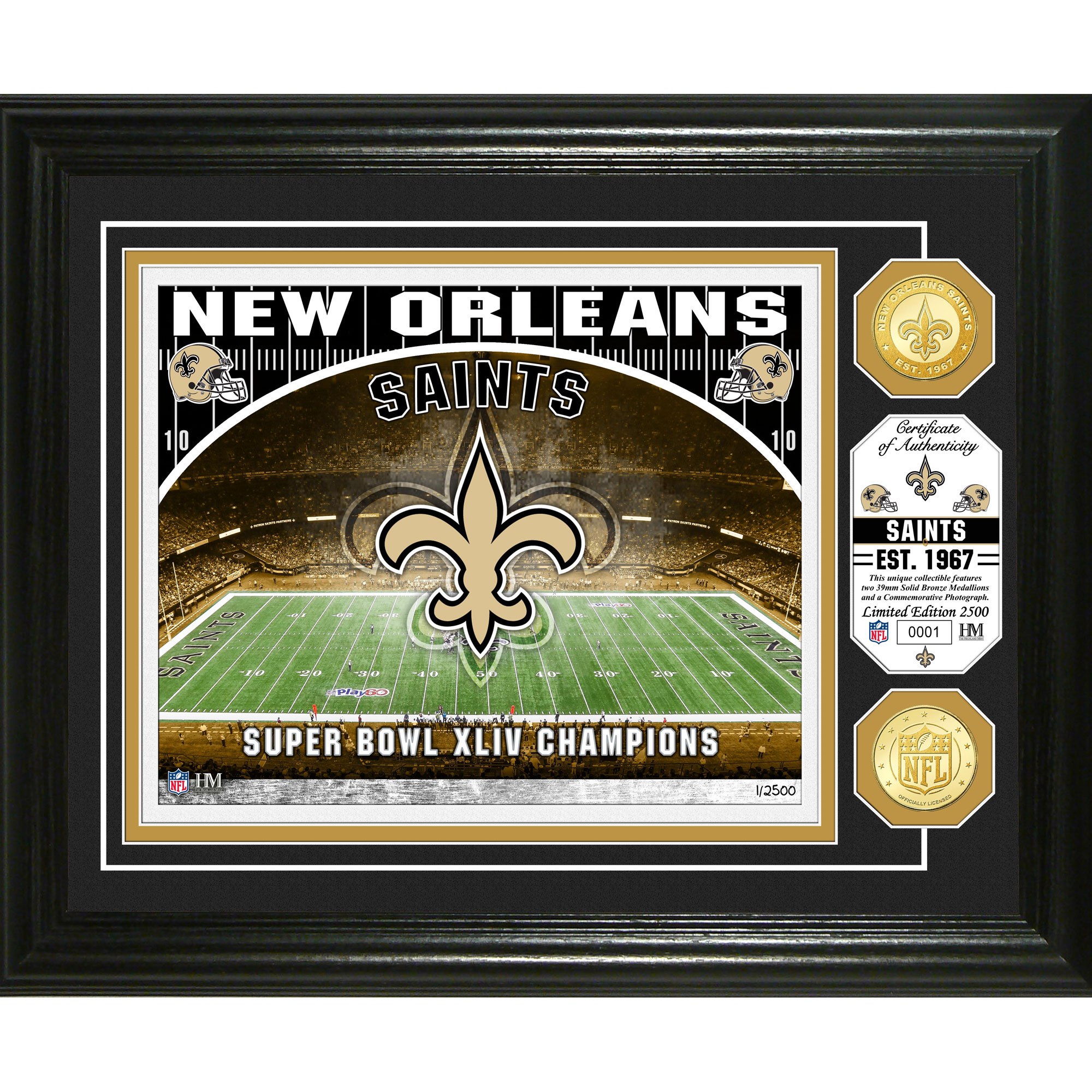 "New Orleans Saints Highland Mint 13"" x 16"" Stadium Photo Mint - No Size"