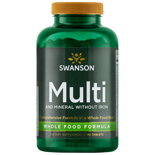 Swanson Whole Foods Formula Multi and Mineral without Iron 90 Tabs