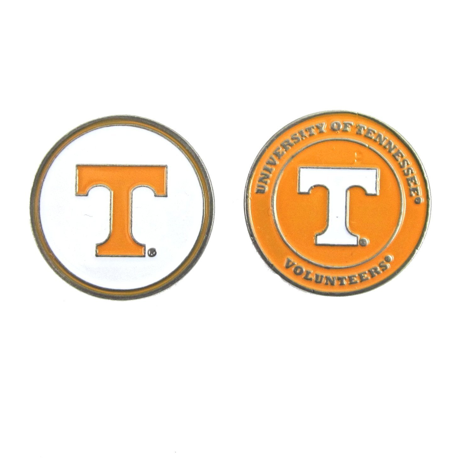 Tennessee Volunteers Double Sided Golf Ball Marker, Tennessee Volunteers Ball Marker By Waggle Pro Shop,USA