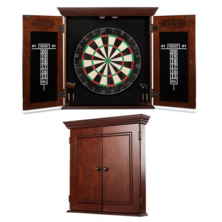 - Barrington Chatham Bristle Dartboard and Cabinet Set, Brown
