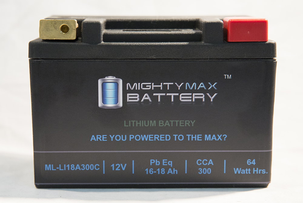 LiFePO4 12V 16-18Ah Battery for Kawasaki Jet Ski JS440 440cc 1977-1986 by Mighty Max Battery