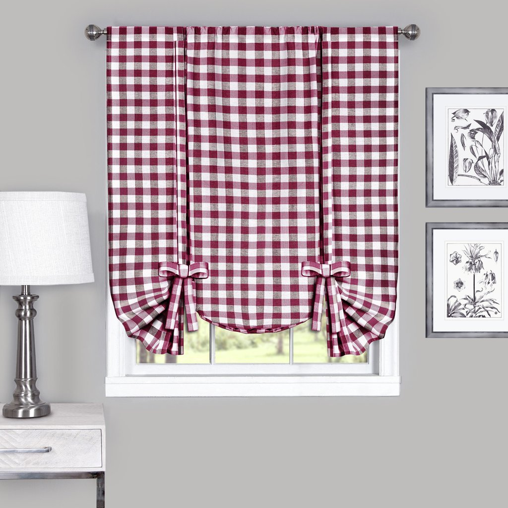 Red gingham curtains - Red Gingham Curtains 27
