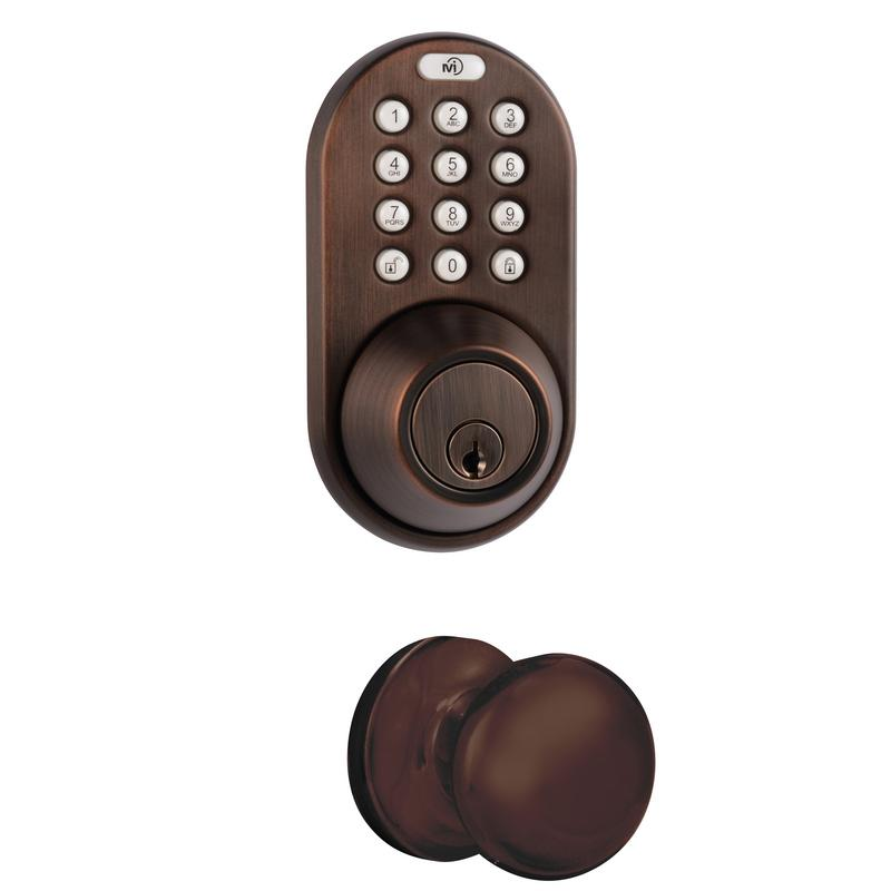 Keyless Entry Deadbolt and Door Knob Lock Combo Pack with Electronic Digital KeypaD Oil Rubbed Bronze