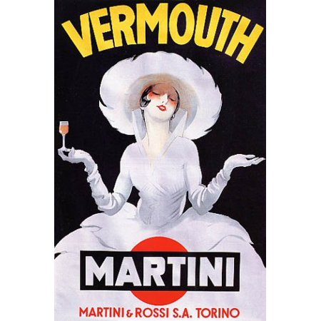 Vermouth Martini & Rossi 24x36 Art Print Poster! Elegant Vintage 1920s Nostalgia Poster Great for Bar or Entertainment