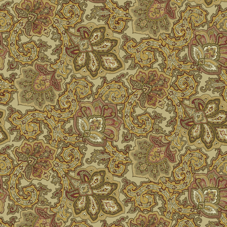 "Waverly Inspirations Cotton Duck 45"" Paisley Antique Fabric, per Yard"