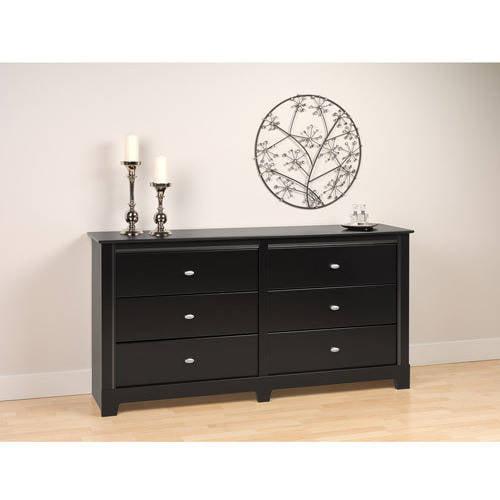 Prepac Kallisto 6-Drawer Dresser, Black