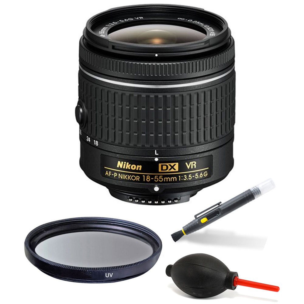Nikon 18-55mm f/3.5-5.6G VR AF-P DX Nikkor Lens Accessory Kit for Nikon D3300