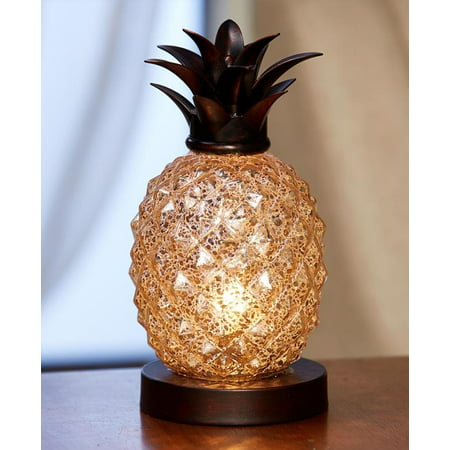 - Pineapple Glass Table Lamp, Details; By The Lakeside Collection