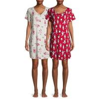 2-Pack Secret Treasures Women's and Women's Plus Pajama Sleepshirt