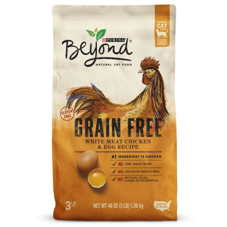 Purina Beyond Grain Free, Natural Dry Cat Food, Grain Free White Meat Chicken & Egg Recipe - 3 lb.