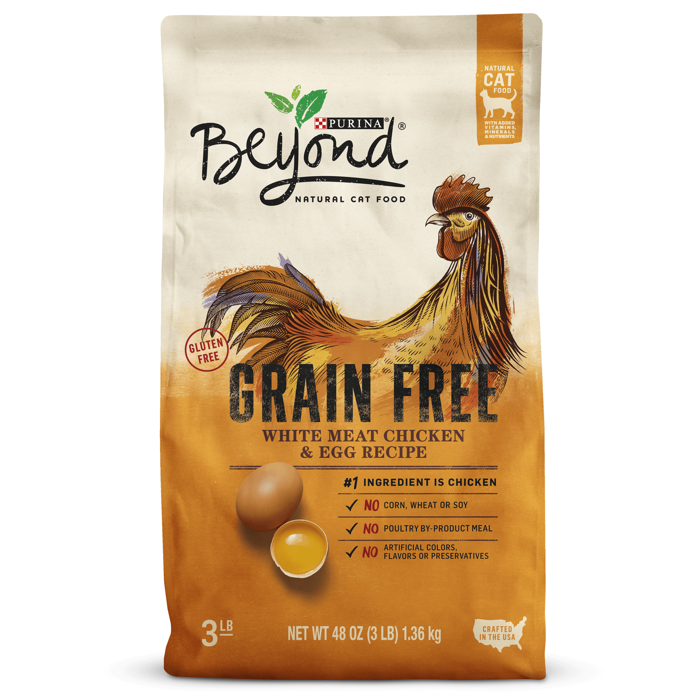 Purina Beyond Grain-Free White Meat Chicken & Egg Dry Cat Food (Various Sizes)