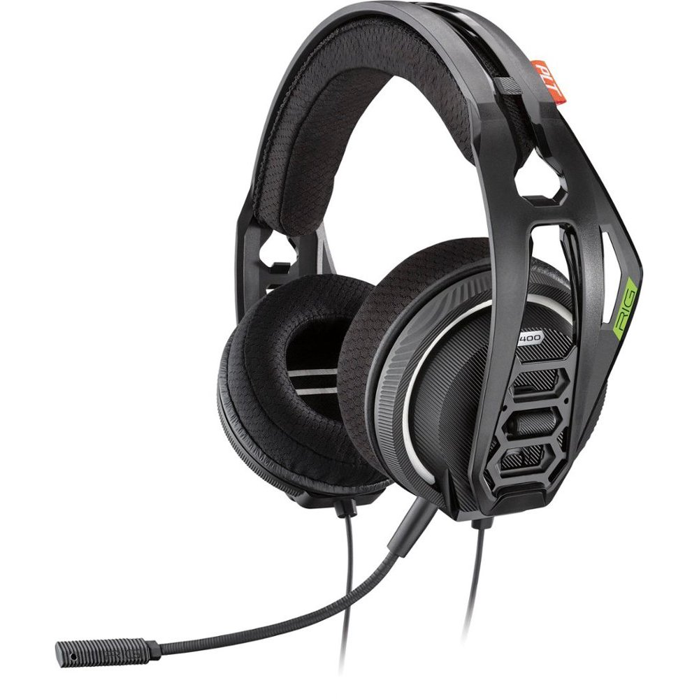 Plantronics - RIG 400HX with Dolby Atmos Wired Stereo Gaming Headset for Xbox One - Black