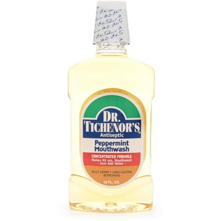 Mouthwash Peppermint Baking Soda - Dr. Tichenor's Antiseptic Mouthwash, Peppermint, 16 Fl Oz