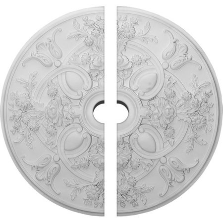 31 1/4u0022OD x 3 1/2u0022ID x 2 1/4u0022P Baile Ceiling Medallion, Two Piece (Fits Canopies up to 6u0022)