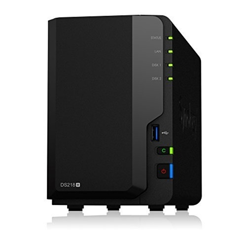 Synology DiskStation DS218+ 2-Bay Diskless NAS Network Attached Storage by Synology