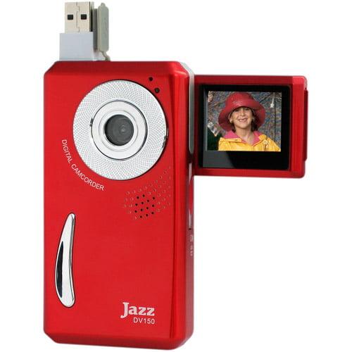 "Jazz DV150 Red Pocket Camcorder, 1.44"" LCD Display"
