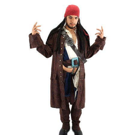 Elope Costumes Pirates of the Caribbean Costume Scarf with Dreads (Pirate Scarf)
