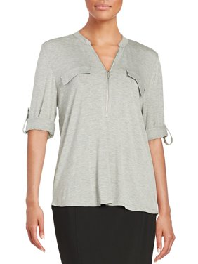 Zip Placket Top