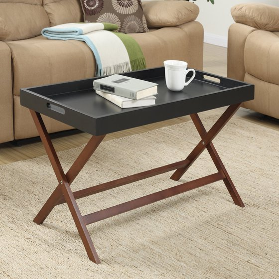 Coffee Table Tray Contemporary: Convenience Concepts Designs2Go Baja Coffee Table With
