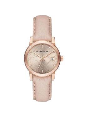 Burberry  BU9131  Brown / Pink Leather Analog Quartz Women's Watch