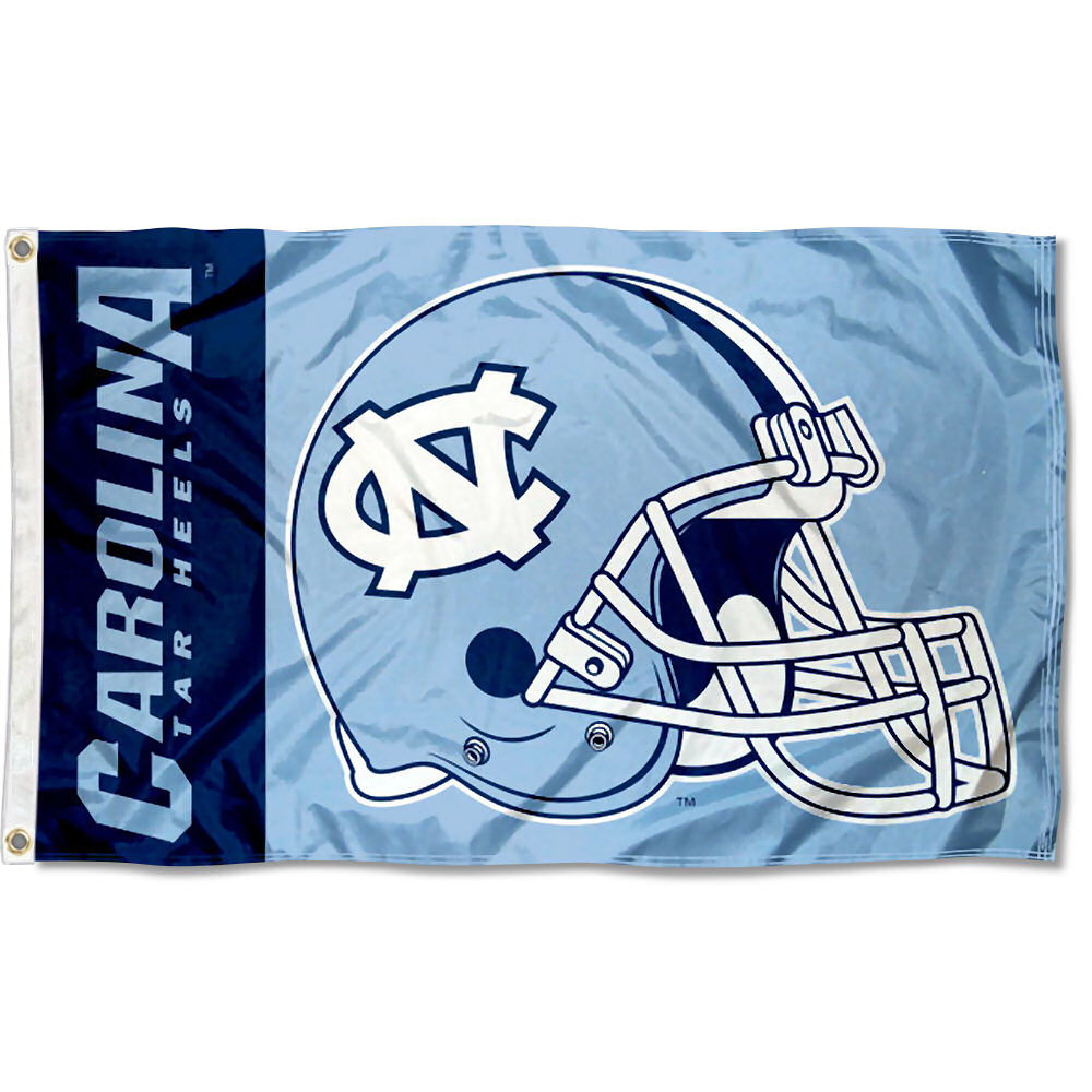 North Carolina Tar Heels Football Helmet 3' x 5' Pole Flag