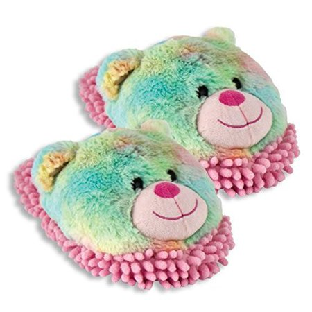 Aroma Home Fuzzy Friends Slippers (Rainbow Bear) - image 1 of 1