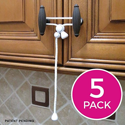 Kiscords Baby Safety Cabinet Locks For Knobs Child Safety Cabinet Latches, New by kiscords