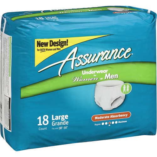 Assurance Moderate Absorbency Large Underwear, 18ct