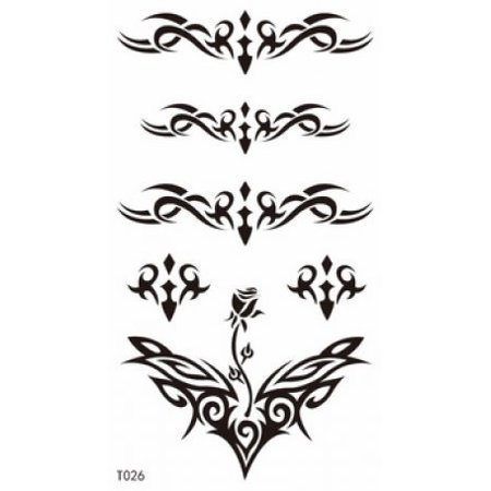 SPESTYLE look like real tattoos for men and boy,the design including 6 nice totem design for back temporary tattoos stickers - Polka Dot Bow Tattoo