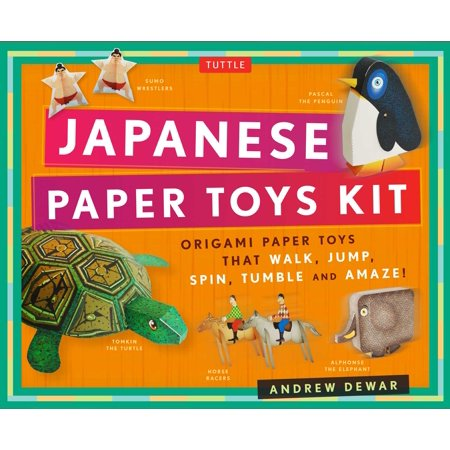 Japanese Paper Toys Kit : Origami Paper Toys That Walk, Jump, Spin, Tumble and Amaze!