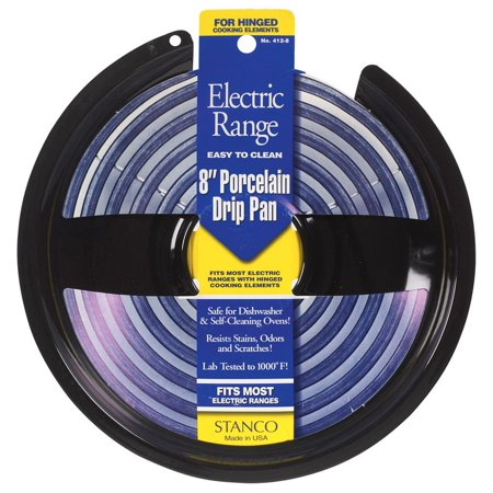 Black Stanco Porcelain On Steel Electric Range Drip Pan 8
