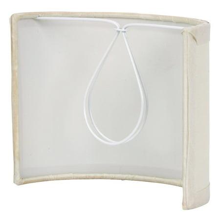 - Eggshell Silk 5 Inch Wall Sconce Shield Lamp Half Shade