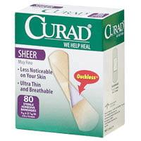 Curad Sheer Adhesive Bandages - Regular Size - 80 Ea