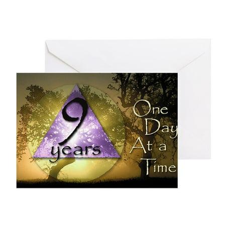 CafePress - 9 Year ODAAT Birthday - Greeting Card, Blank Inside Glossy (Greetings 123)