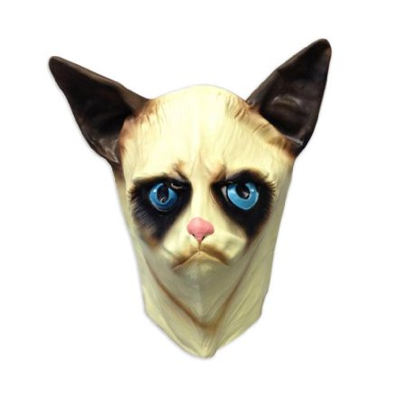 Creepy Cat Mask - Funny Animal Masks - Off the Wall Toys - Funny And Creepy