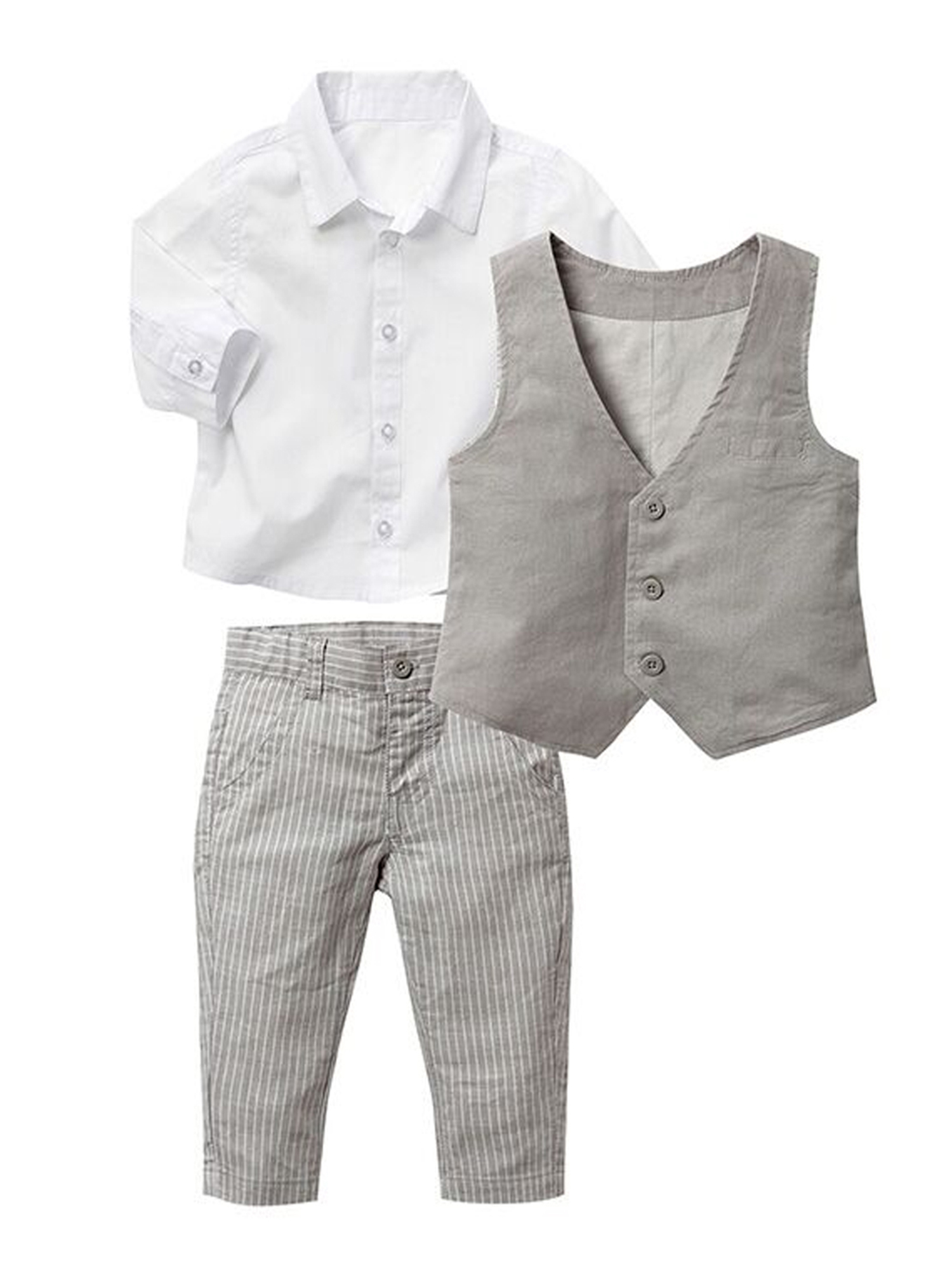 StylesILove Baby Kid Boy Formal Wear Shirt, Vest and Pants 3-pc (2-3 Years)