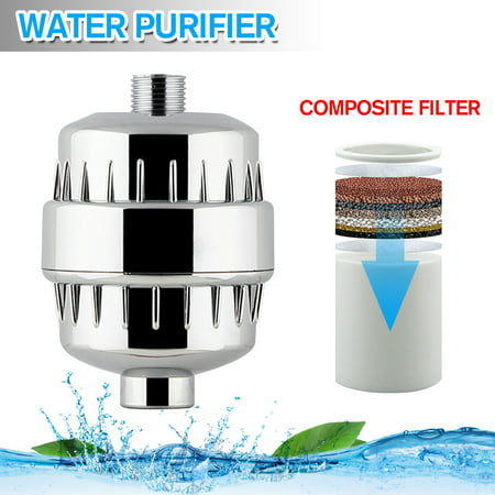 Shower Filter,Universal Shower Head Water Filter Hot & Cold Water Fliter for Chlorine Purifying Softening Hard Water- For All Types of Shower - CE