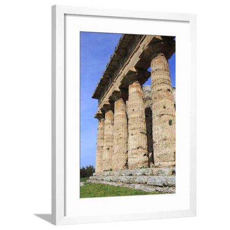 Temple of Neptune, 450 Bc, Largest and Best Preserved Greek Temple at Paestum, Campania, Italy Framed Print Wall Art By Eleanor