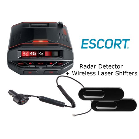 Escort Redline EX Radar detector with Bluetooth, GPS, and preloaded camera  database w/ ZW5 00100642 Wireless Laser Shifters And a SOTS Lanyard