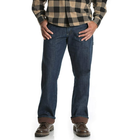 baf5bc92 Wrangler - Wrangler Men's Fleece Lined Carpenter Jean - Walmart.com